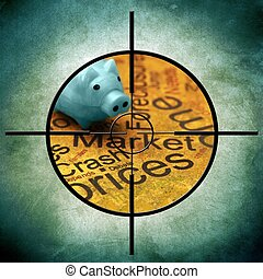 Market crash prices concept