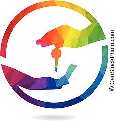 Market deal logo design.