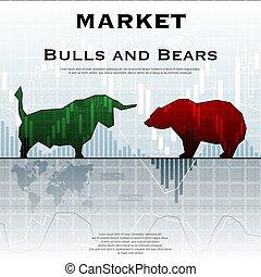 Market exchange background