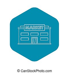 Market icon, outline style