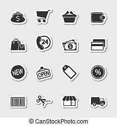 Market Icons Set as Labels
