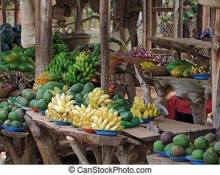 market in Uganda - detail of a market in Uganda (Africa)...