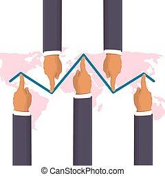 Market manipulation background - Market manipulation concept...
