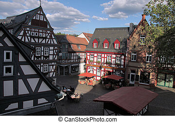 Market place in Idstein in Hesse, Germany