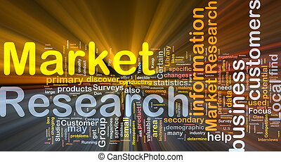 Market research background concept glowing - Background...