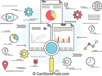 Market research business concept
