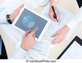 Market research - Business people developing a business ...