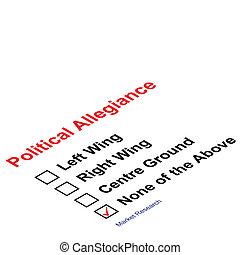 political allegiance - Market research political allegiance...