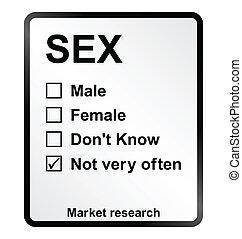 Market Research Sex Sign - Monochrome market research sex...