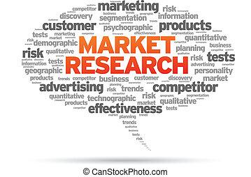 Market Research speech bubble illustration on white ...
