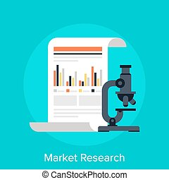 Market Research - Vector illustration of market research...