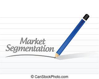 market segmentation message illustration design over a white...