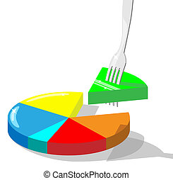 Market share concept - Concept vector illustration...