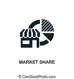 Market Share icon. Creative element design from business strategy icons collection. Pixel perfect Market Share icon for web design, apps, software, print usage