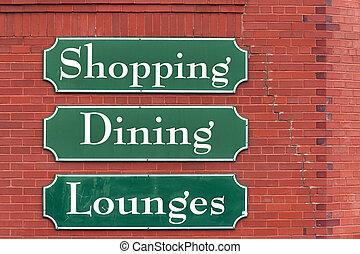 Market signs