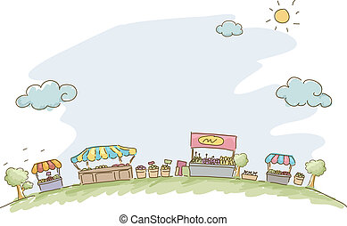 Market Sketch Background - Illustration of Market Sketch...
