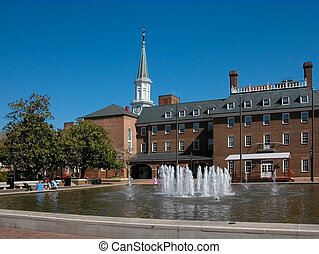 Market Square and City Hall - The fountains of Market Square...