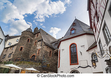 Market square in Beilstein on the Moselle