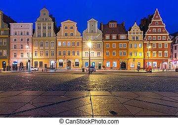 Market Square in Wroclaw, Poland