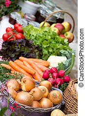 Market stall - A market stall with many different and fresh ...