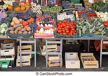 Market stall - Fresh and organic vegetables at farmers...