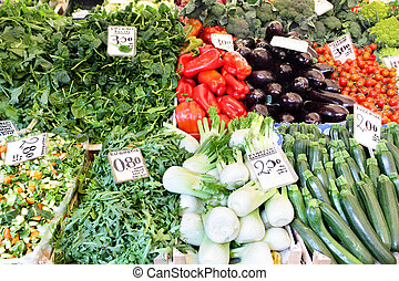 Market stall - Fruit and vegetables at a market stall