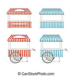Market Stall Set. Vector