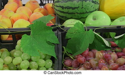 Market stall with fresh fruits