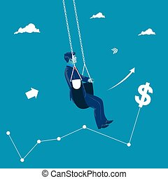 Market swing concept. Business vector illustration
