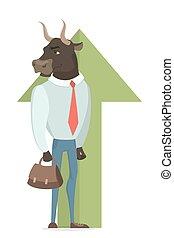 market., taureau, stockage