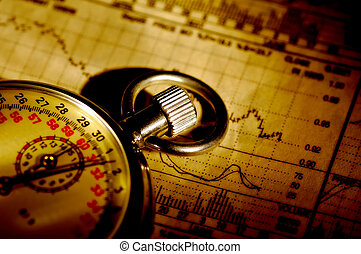 Market Timing - Stopwatch and Stock Charts