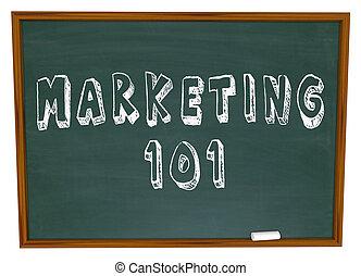 marketing, 101, parole, su, lavagna, basi