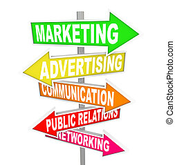 Marketing Advertising Communication on Arrow SIgns - Several...