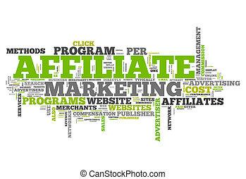 """marketing"""", """"affiliate, 単語, 雲"""