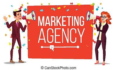 Marketing agency Banner Vector. Inbound, Outbound Marketing ...