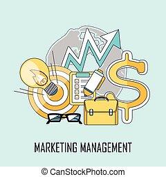 marketing, amministrazione, concetto