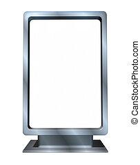 Marketing and advertising Blank vertical billboard