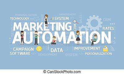 Marketing automation concept. - Marketing automation concept...