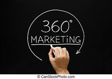marketing, begriff, grade, 360