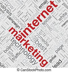 marketing, begriff, wort, internet