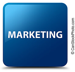 Marketing blue square button