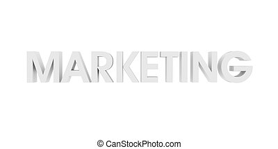 marketing, branca, 3d, texto