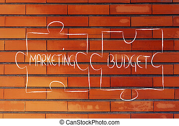 marketing & budget,jigsaw puzzle design - union of marketing...