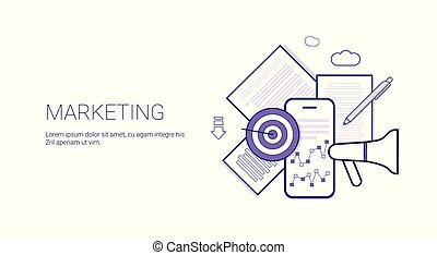 Marketing Business Concept Template Web Banner With Copy Space