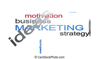 Marketing Business Strategy Word Cloud Text Animation With...