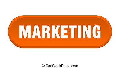 marketing button. marketing rounded orange sign. marketing