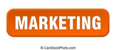 marketing button. marketing square 3d push button