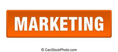 marketing button. marketing square orange push button