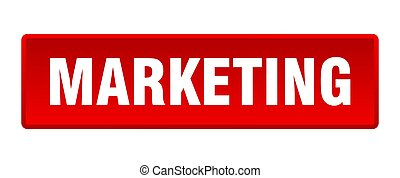 marketing button. marketing square red push button