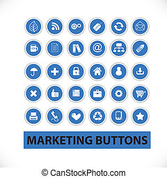 marketing buttons & icons set, vector